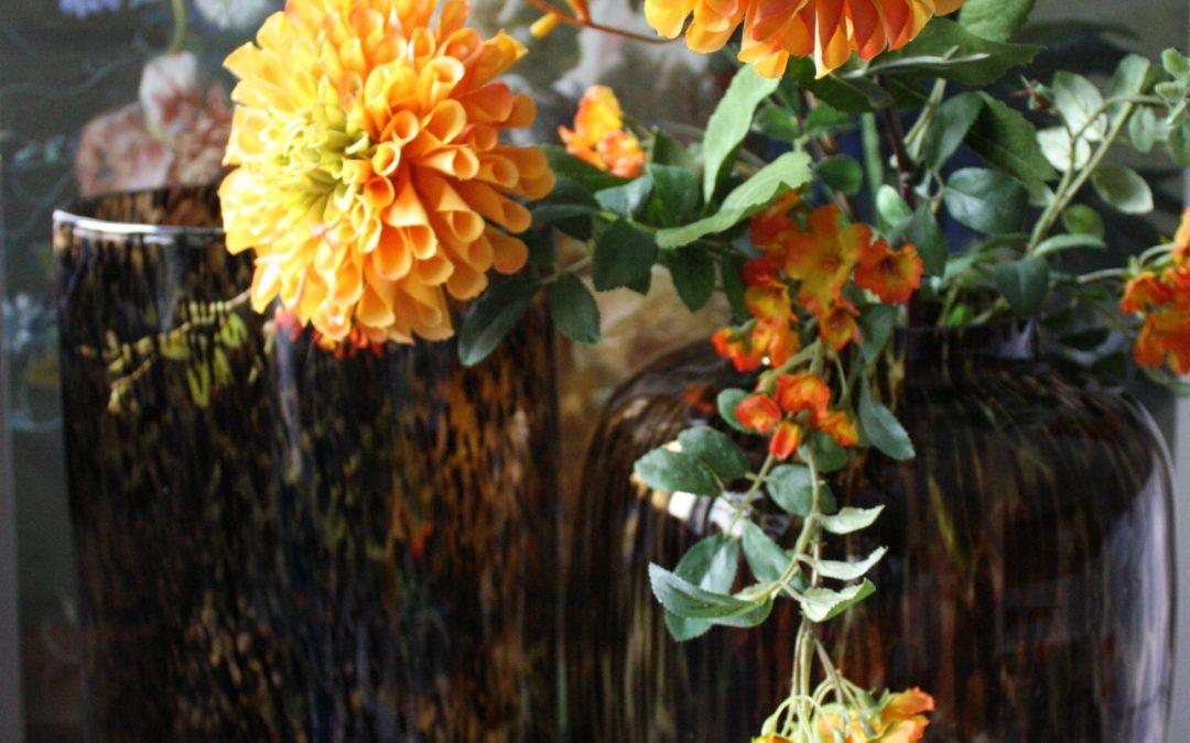 Glazen Vazen met Luipaard Motief