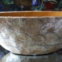 Ovale Pot met Goud Schelpen Design
