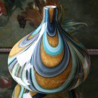 Artistieke Glazen Vaas met Spiraal Design